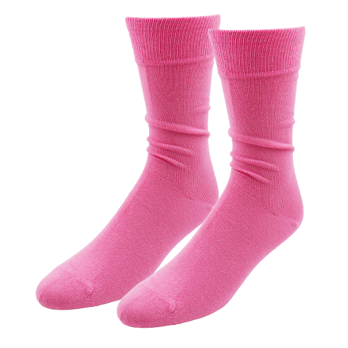 Bright Pink Socks for Men - E.L. Cravatte (1)