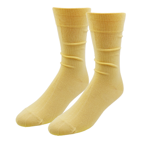Light Yellow Socks for Men - E.L. Cravatte (1)