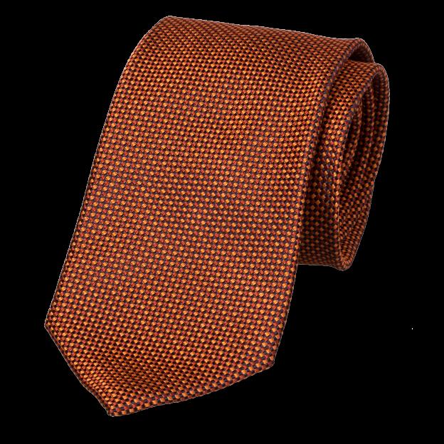 0143ac60e7c4 Beautiful ocher block pattern necktie. Order online!