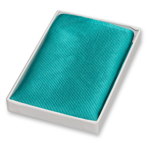 Dark Turquoise Pocket Square - Silk (1)