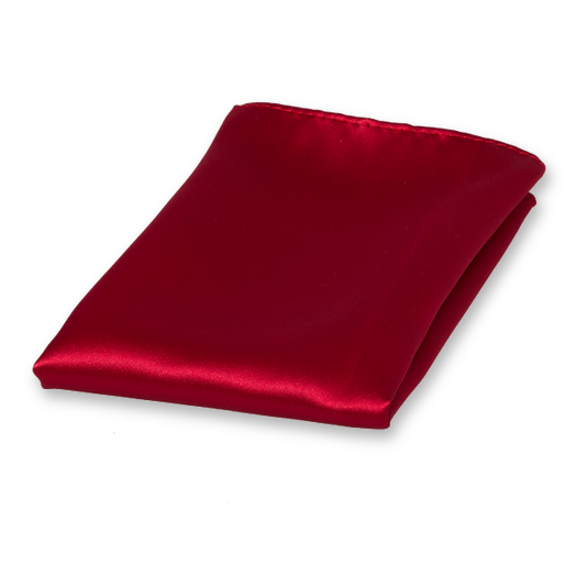 Dark Red Pocket Square - Satin Polyester (1)