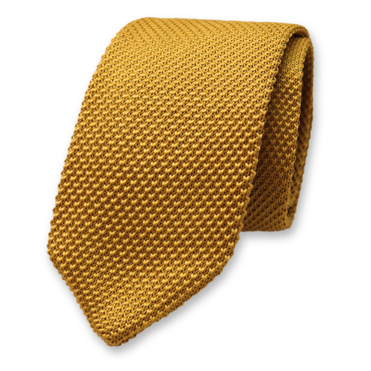Knitted Necktie - Gold - Polyester (1)