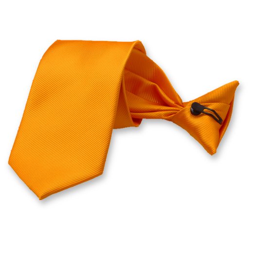Rib Structure Orange clip tie (1)