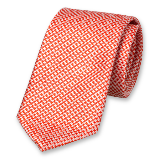 Red White Tie - Silk (1)