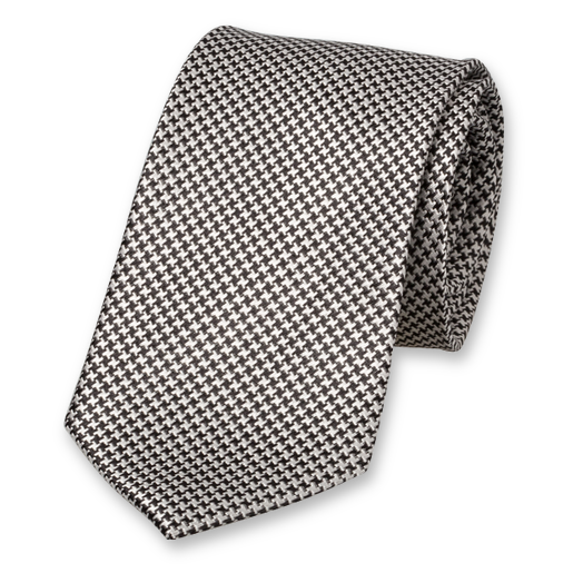 Black Grey Tie - Silk (1)