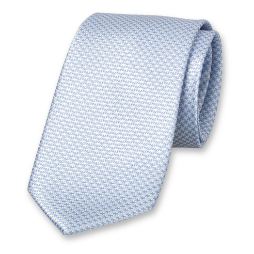 Blue White Tie - Silk (1)