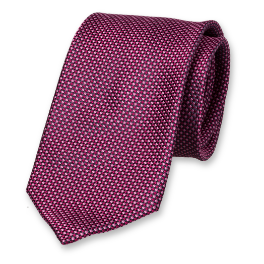 Pink Tie - Block Pattern - Silk (1)
