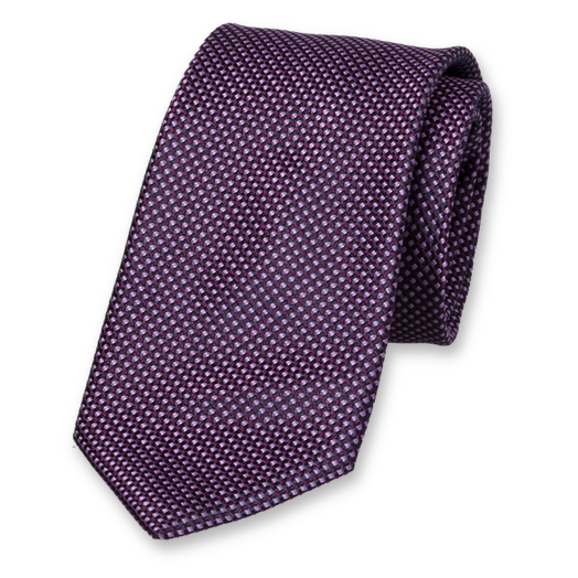 Purple Tie - Block Pattern - Silk (1)