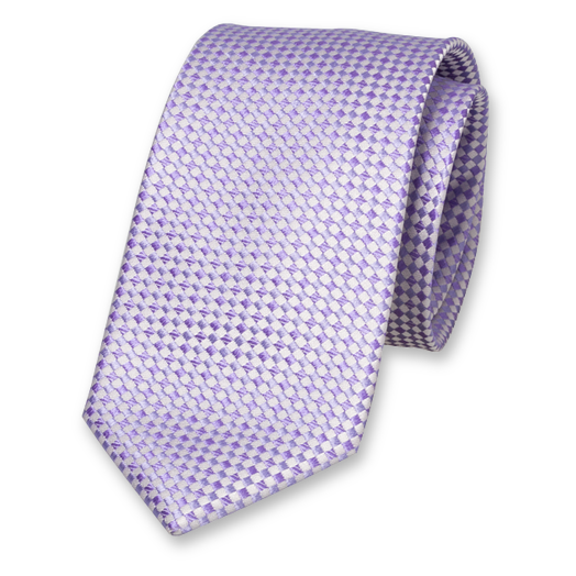 Lilac Tie - Checkered - Silk (1)