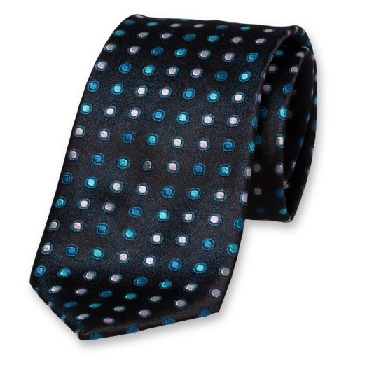 Black Blue Tie - Silk (1)