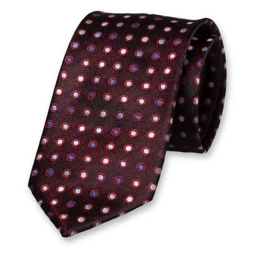 Black Red Blue Tie - Silk (1)