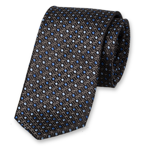 Black Light Blue Tie - Silk (1)