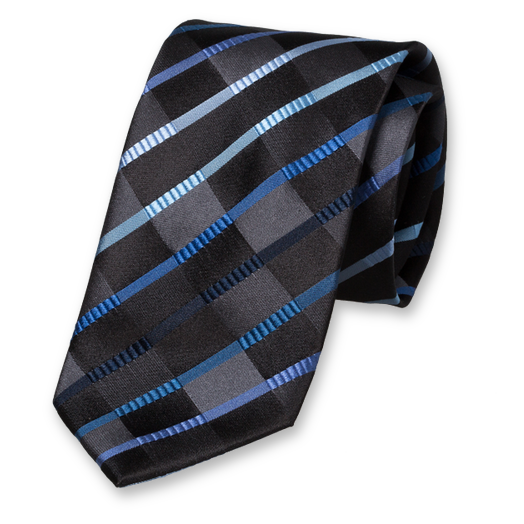 Black Navy Tie - Silk (1)