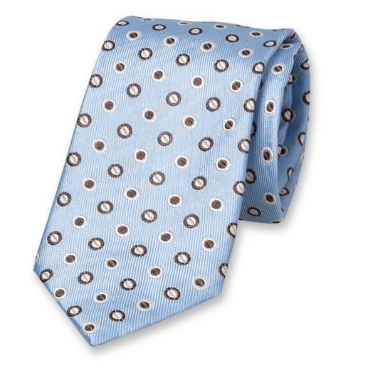 Light blue tie - circles (1)