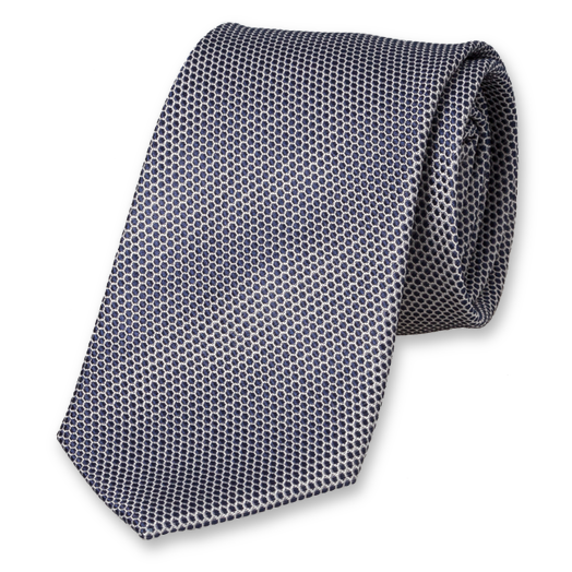 Dark blue tie with motiv (1)