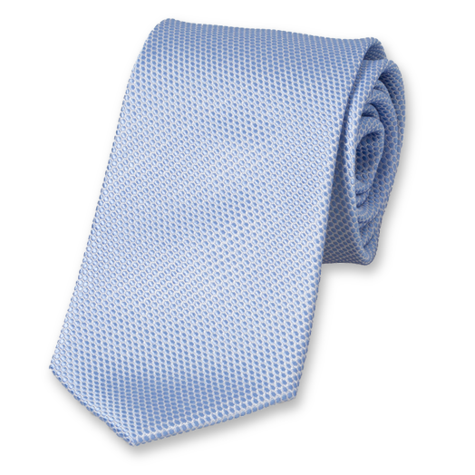 Light Blue Tie with Design II - Silk (1)