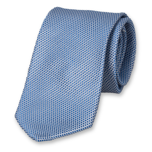 Blue tie with motiv (1)