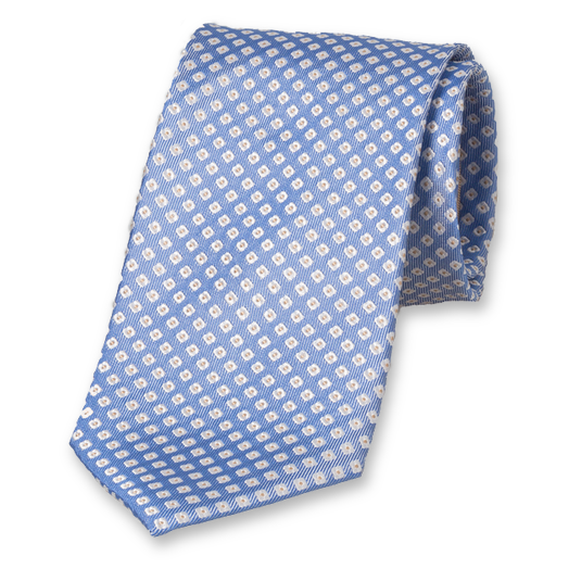 Light Blue Tie with Motif - Silk (1)