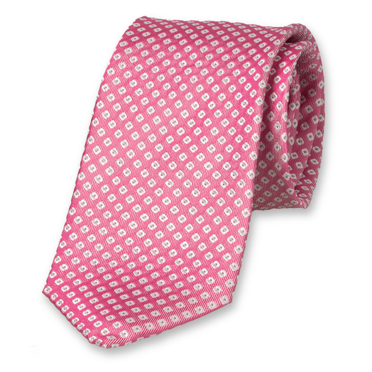 Light Pink Tie with Motif - Silk (1)