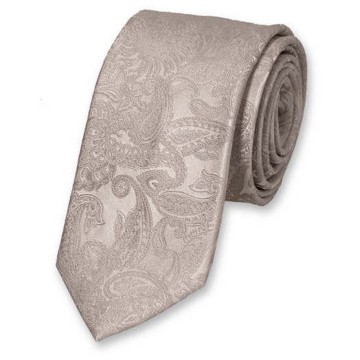 Wedding tie silver grey - baroque  (1)