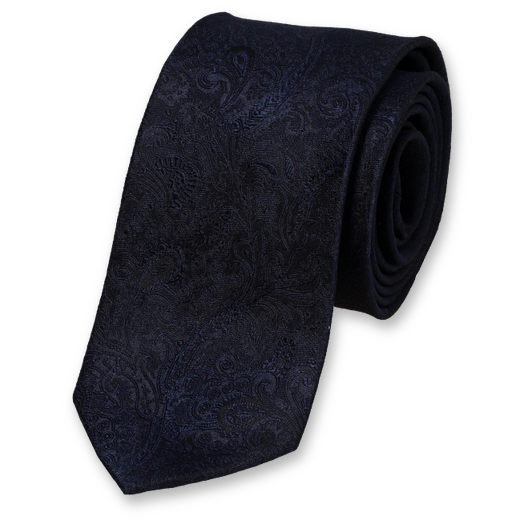 Wedding tie Dark Blue – baroque (1)