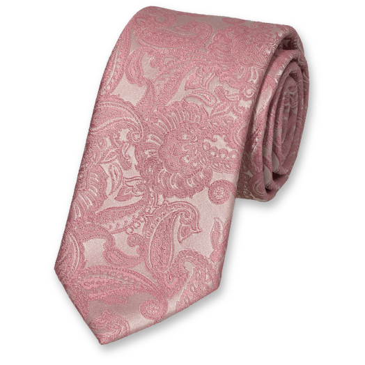 Wedding tie Pastel Pink – baroque (1)