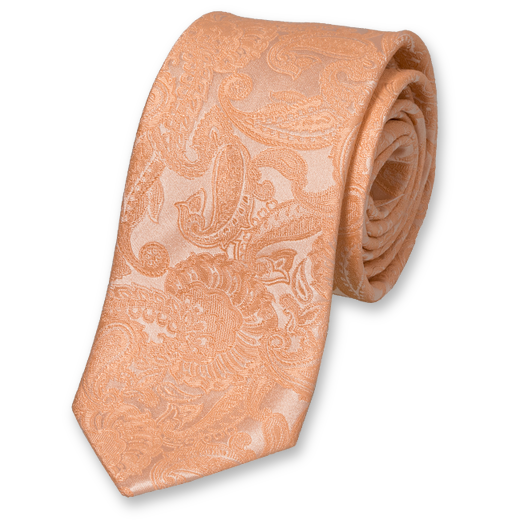 Wedding tie Salmon – baroque (1)