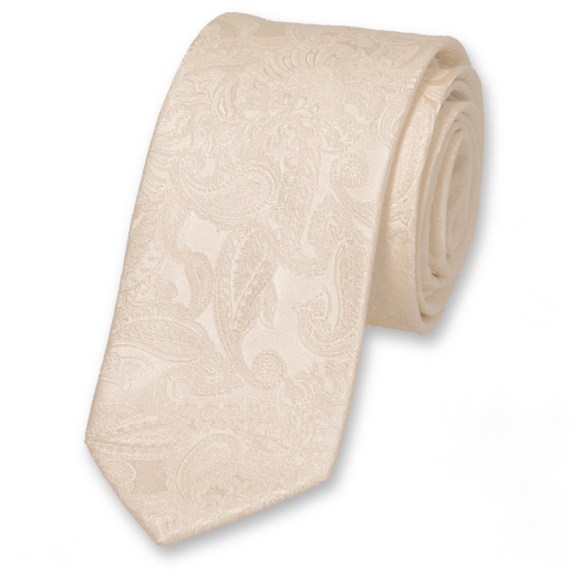 Wedding tie Off White - baroque  (1)