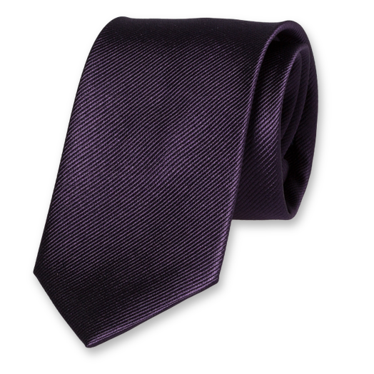 Dark Purple Tie - Silk (1)