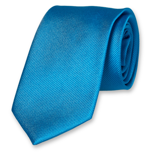 Bright blue silk tie (1)