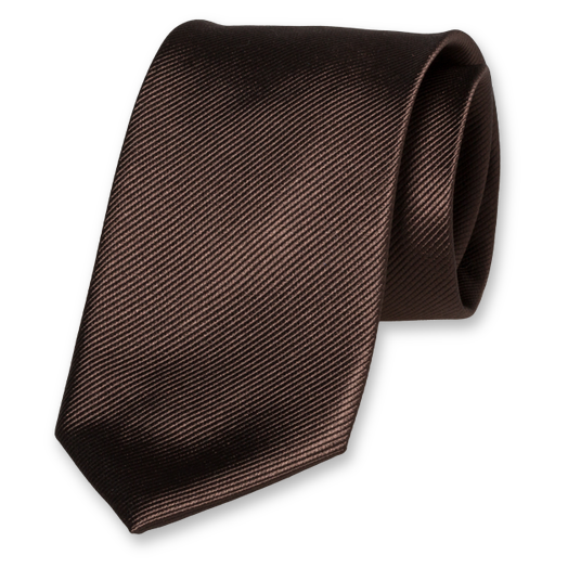 Brown Tie - Silk (1)