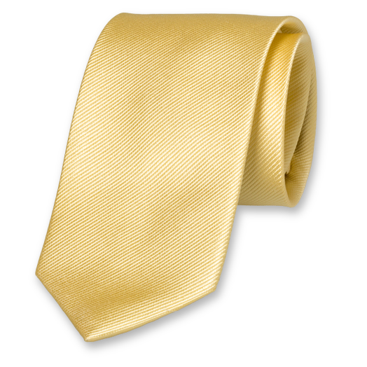 Light Yellow Tie - Silk (1)