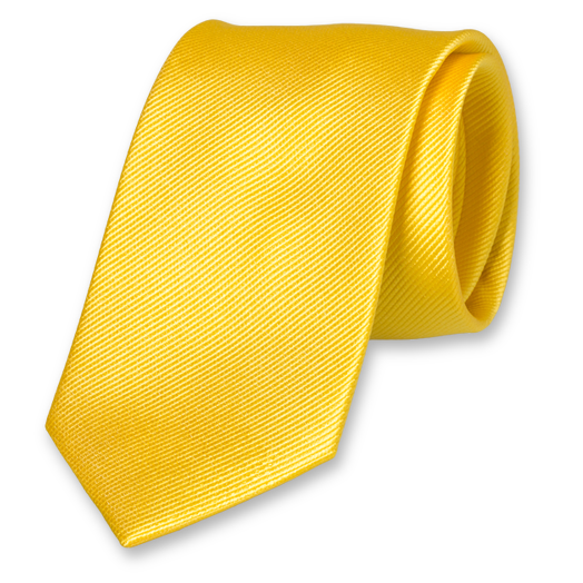 Bright Yellow Tie - Silk (1)