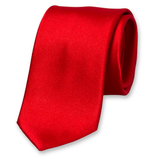 Red Tie - Satin Silk (1)