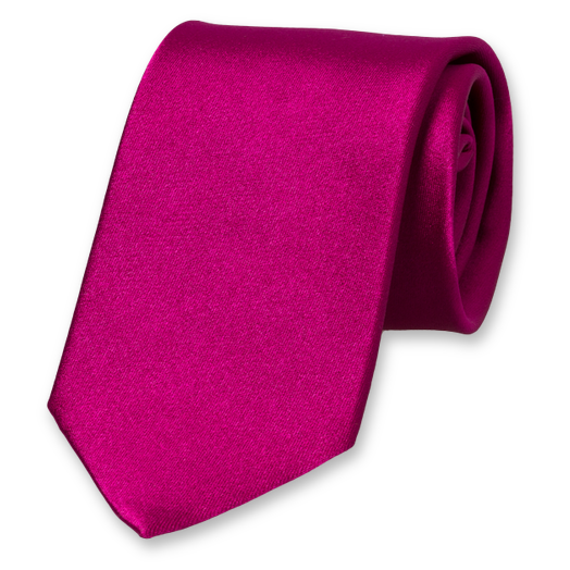 Violet extra long neck tie - Satin Silk (1)