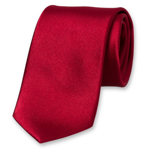 Dark Red Tie - Satin Silk (1)