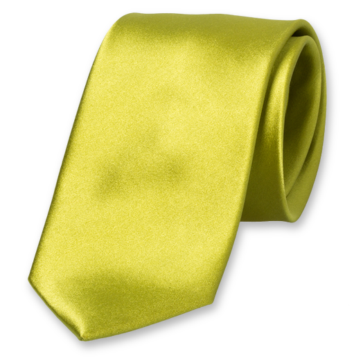 Lime Tie - Satin Silk (1)