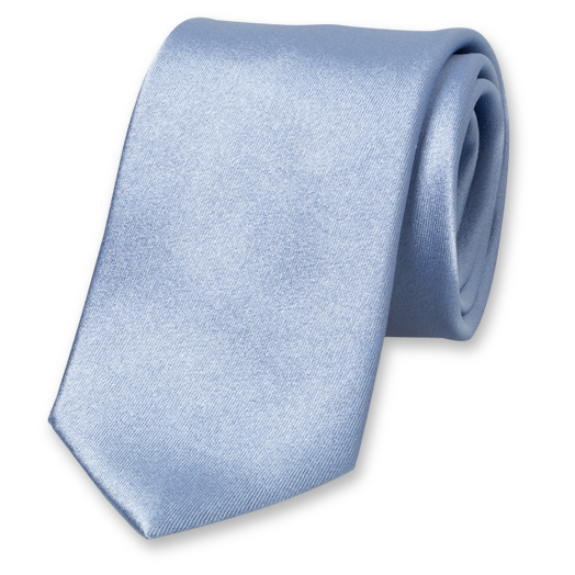 Light blue satin silk tie (1)