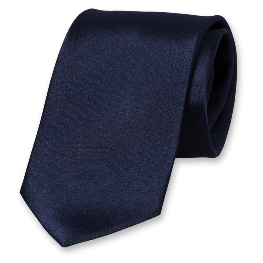Dark Blue Tie - Satin Silk (1)