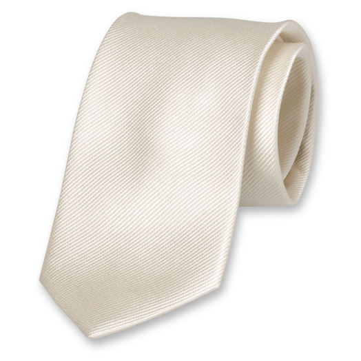 Cream White Tie - Silk (1)