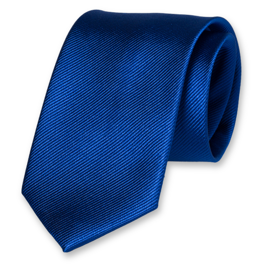 Royal blue silk tie (1)