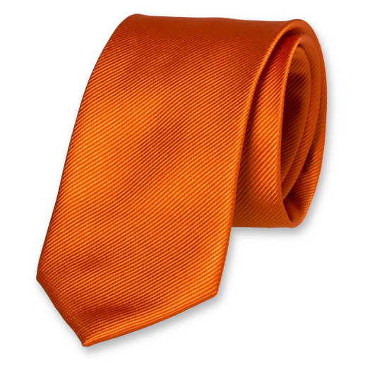 Dark orange silk tie (1)