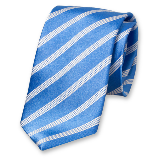 Light Blue Striped Tie - Silk (1)
