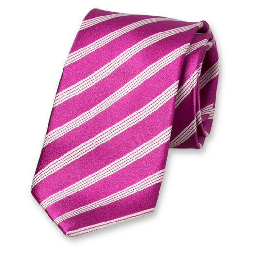 Violet Striped Tie - Silk (1)