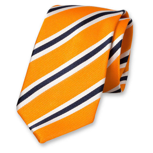 Orange/white/dark blue tie (1)