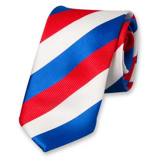 Red-White-Blue Striped Tie (1)