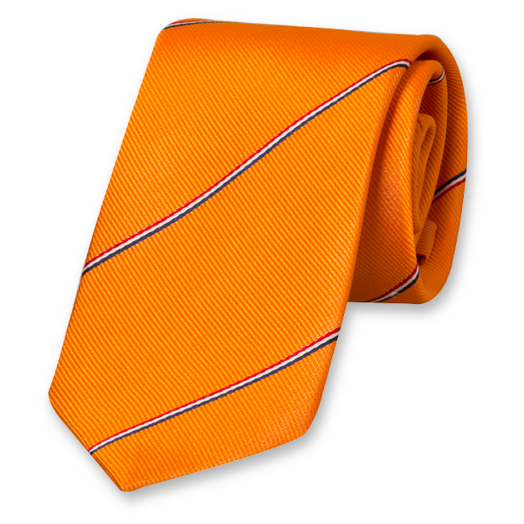 Dutch Flag Striped Tie - Silk (1)