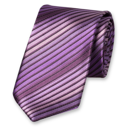 Purple Multistripe Tie - Silk (1)