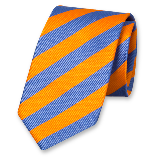 Orange/blue striped tie (1)