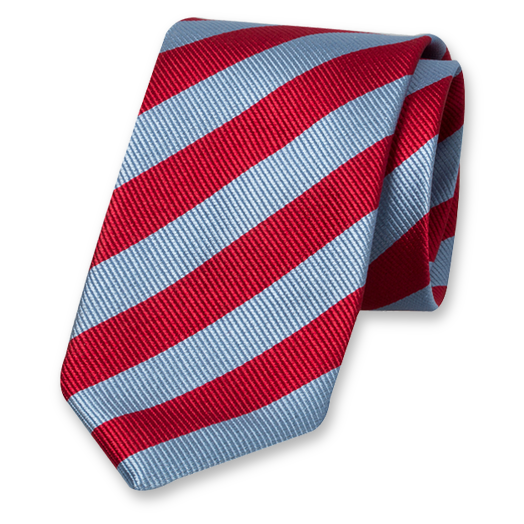 Blue-Red Striped Tie - Silk (1)